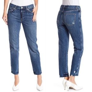 Free People | Slim Boyfriend Raw Hem Denim Jean P4